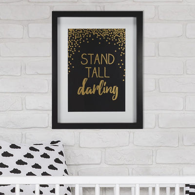 Stand Tall Darling Framed Art - Gold roomset