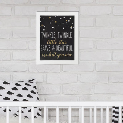 Brave and Beautiful Framed Wall Art roomset