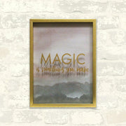 Magic is Something You Make Blush Shadowbox large