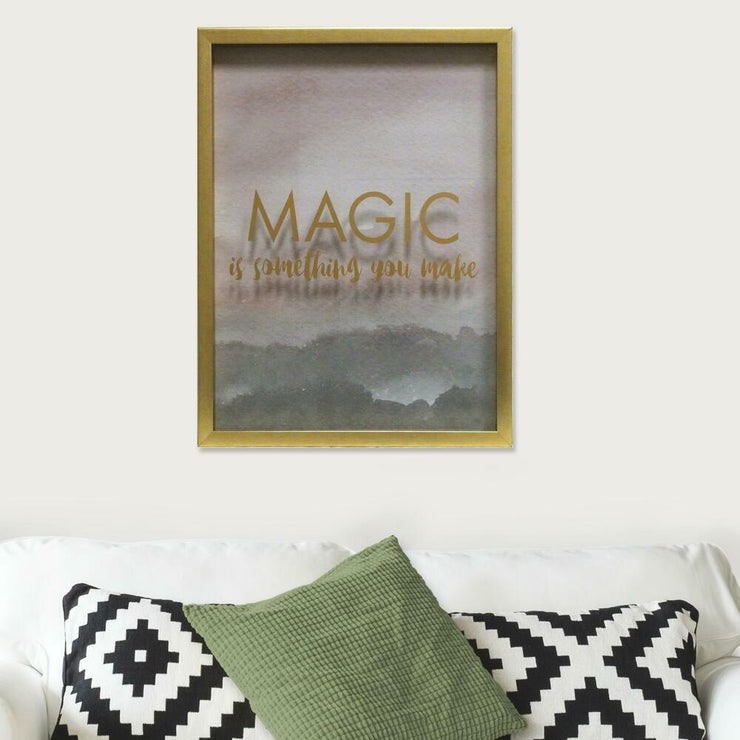 Magic is Something You Make Blush Shadowbox large roomset