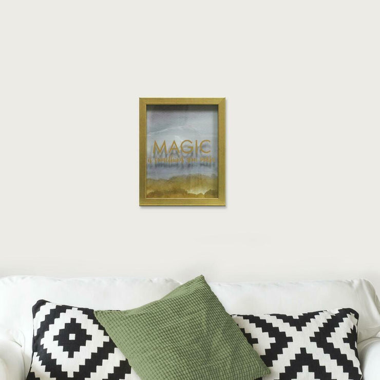 Magic is Something You Make Blue Shadowbox small roomset