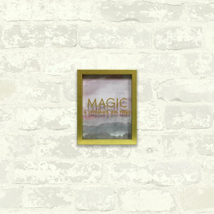 Magic is Something You Make Blush Shadowbox small