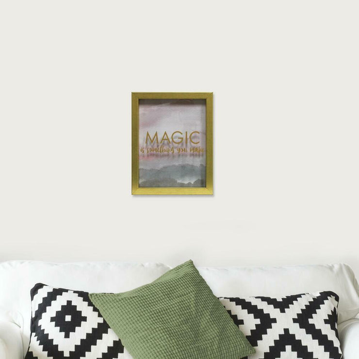 Magic is Something You Make Blush Shadowbox small roomset