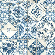 Mediterranean Tile Peel and Stick Wallpaper blue
