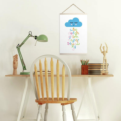 Raining Letters Wall Hanging roomset