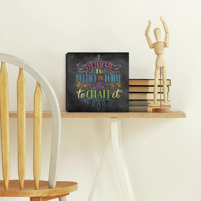 Colorful Chalk Quote Canvas roomset