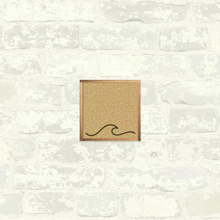 Wave Cork Wall Art roomset 2