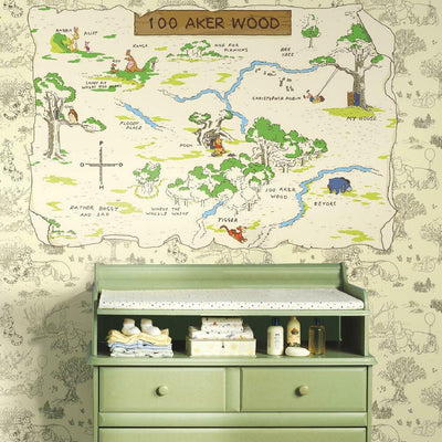 Pooh & Friends 100 Aker Wood Map roomset