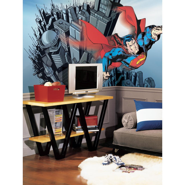 Superman XL Wallpaper Mural 10.5' x 6' roomset
