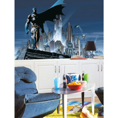 Batman XL Wallpaper Mural 10.5' x 6' roomset