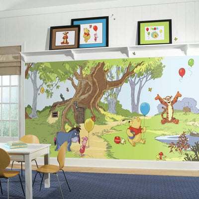 Pooh & Friends XL Wallpaper Mural 10.5' x 6' roomset