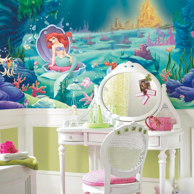 The Little Mermaid XL Wallpaper Mural 10.5' x 6' roomset