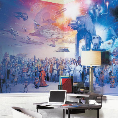 Star Wars Saga XL Wallpaper Mural 10.5' x 6' roomset
