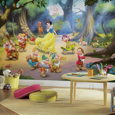 Snow White and the Seven Dwarfs XL Wallpaper Mural 10.5' x 6' roomset