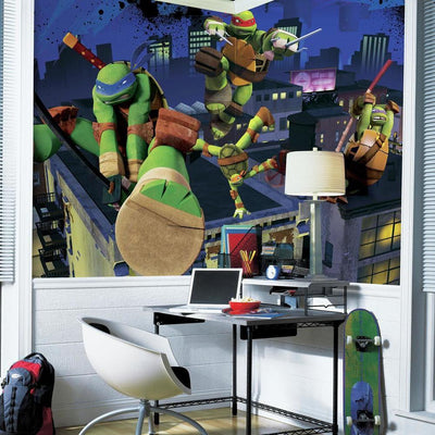Teenage Mutant Ninja Turtles XL Wallpaper Mural 10.6' x 6' roomset