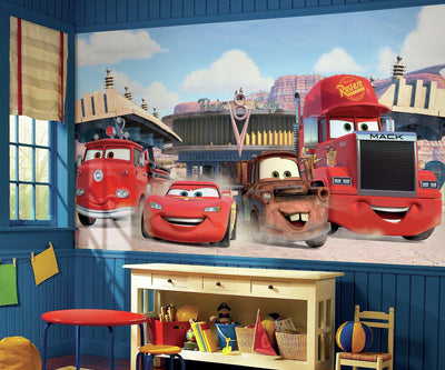 Disney Pixar Cars Friends to the Finish XL Wallpaper Mural 10.5' x 6' roomset