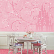 Disney Princess Scroll Castle XL Wallpaper Mural 10.5' x 6' roomset