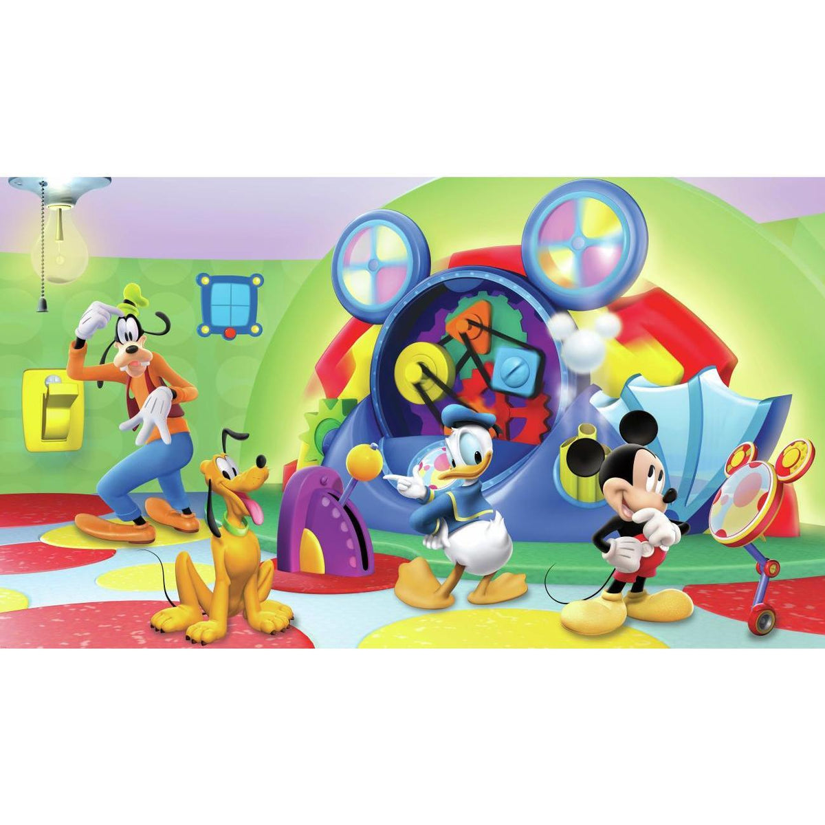 mickey mouse clubhouse capers xl wallpaper mural 10 5 x 6 roommates decor roommates decor