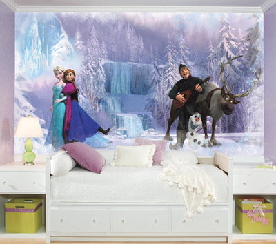 Disney Frozen XL Wallpaper Mural 10.5' x 6' roomset