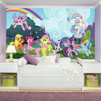 My Little Pony Ponyville XL Wallpaper Mural 10.5' x 6' roomset