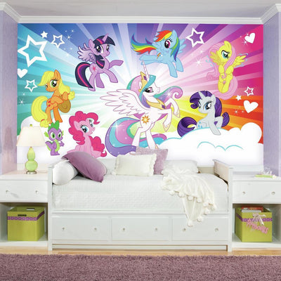 My Little Pony Cloud Burst XL Wallpaper Mural 10.5' x 6' roomset