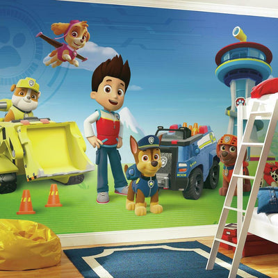 Paw Patrol XL Prepasted Wall Mural 6' x 10.5' roomset