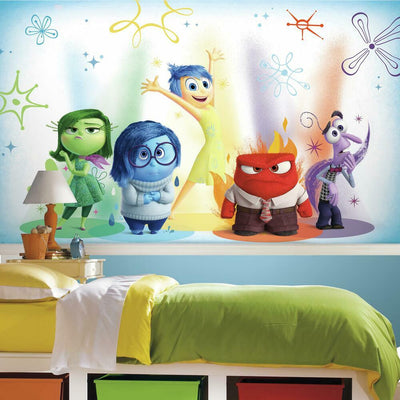 Inside Out XL Prepasted Wall Mural 6' x 10.5' roomset
