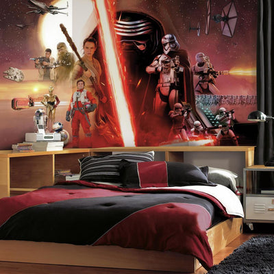 Star Wars: The Force Awakens Wallpaper Mural 10.5 X 6 roomset