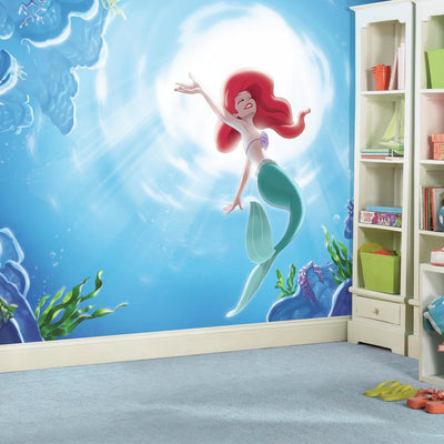"The Little Mermaid ""Part of the World"" XL Wallpaper Mural 10.5' X 6' roomset"