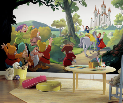 "Disney Princess Snow White ""Happily Ever After"" XL Wallpaper Mural 10.5' X 6' roomset"