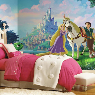 Disney Tangled XL Wallpaper Mural 10.5' X 6' roomset