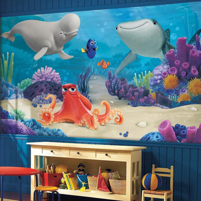 Disney Pixar Finding Dory XL Wallpaper Mural 10.5' X 6' roomset