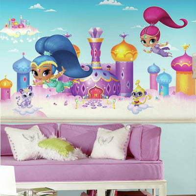 Shimmer and Shine XL Prepasted Wall Mural roomset