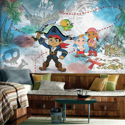 Captain Jake and the Never Land Pirates XL Prepasted Wall Mural 6' x 10.5' roomset