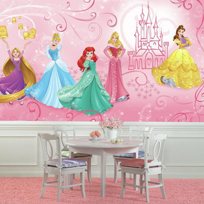 Disney Princess Enchanted XL Wallpaper Mural 10.5' X 6' roomset