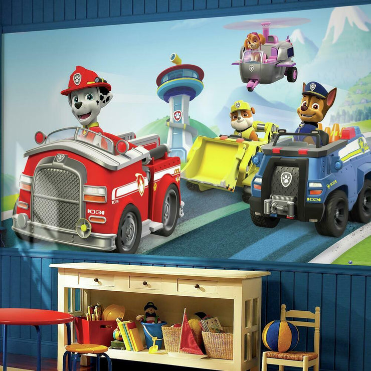 Paw Patrol Friends XL Wallpaper Mural 10.5' X 6' roomset
