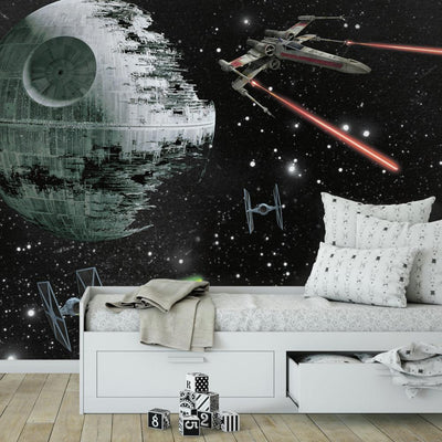Star Wars Vehicles XL Wallpaper Mural 10.5' X 6' roomset
