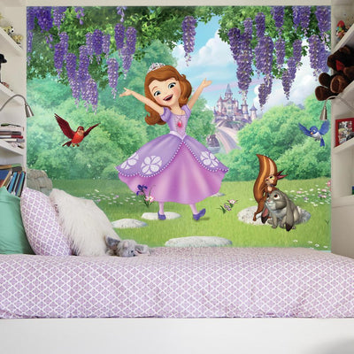 Sofia and Friends Garden XL Wallpaper Mural 10.5' X 6' roomset