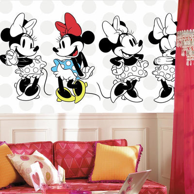 Minnie Rocks the Dots XL Wallpaper Mural 10.5' X 6' roomset
