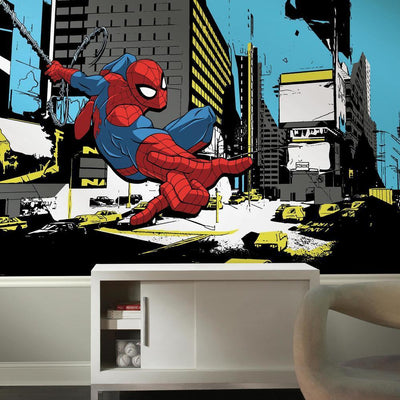 Spider-Man Classic XL Wallpaper Mural 10.5' X 6' roomset