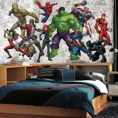 Marvel Hero XL Wallpaper Mural 10.5' X 6' roomset