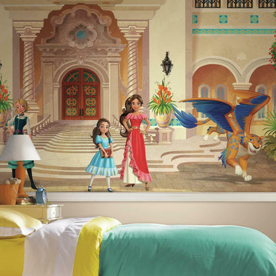 Elena Of Avalor XL Chair Rail Prepasted Wall Mural roomset