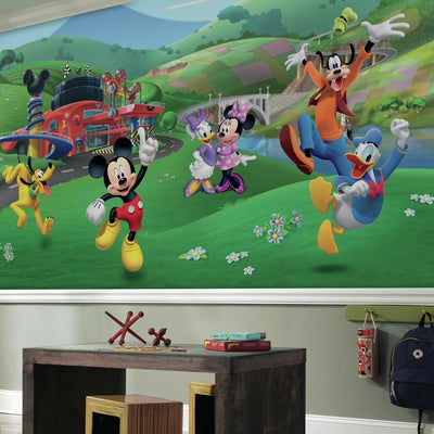 Mickey and Friends Roadster Racer XL Wallpaper Mural 10.5 X 6 roomset
