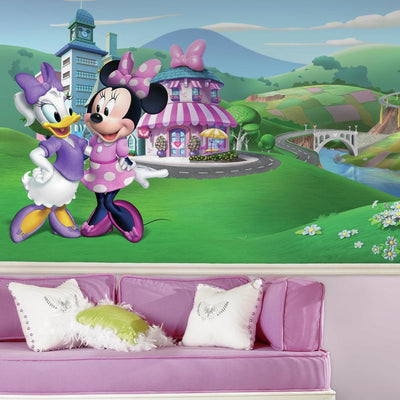 Minnie Mouse Happy Helpers XL Wallpaper Mural 10.5' X 6' roomset