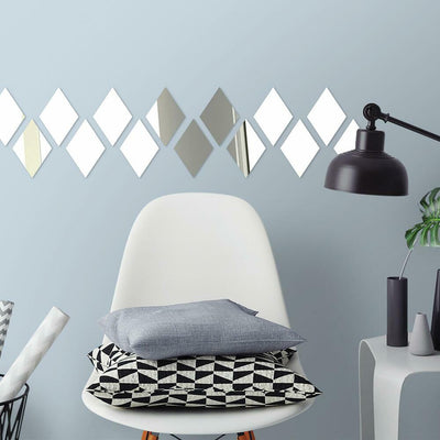 Diamond Mirrors Wall Decals roomset