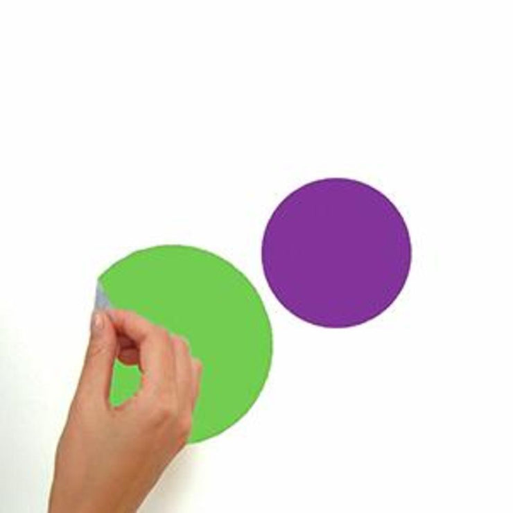 Colorful Dots Wall Decals peel