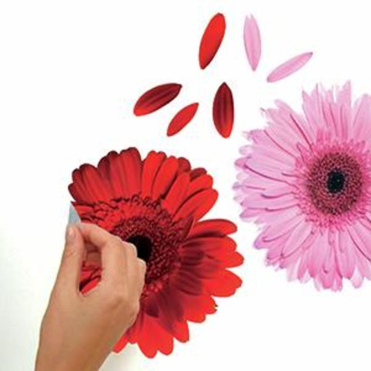 Gerber Daisies Giant Wall Decals peel