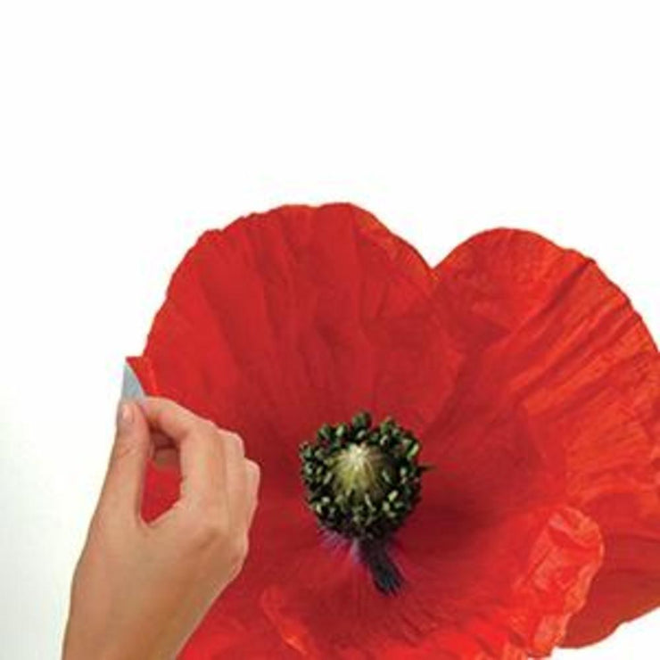 Poppies at Play Giant Wall Decals peel