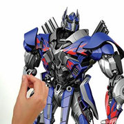 Transformers: Age of Extinction Optimus Prime Giant Wall Decal peel