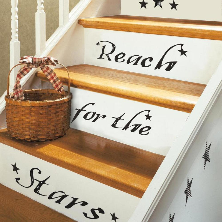 Reach for the Stars Quote Wall Decals roomset